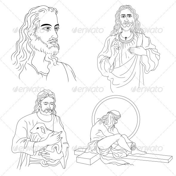 GraphicRiver Jesus Christ Religious Vector Designs Pack 4544636