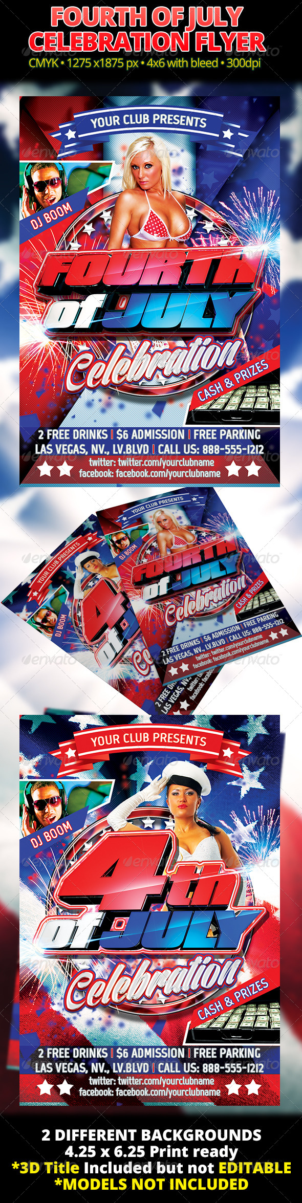 GraphicRiver Fourth Of July Celebration Flyer 4544651