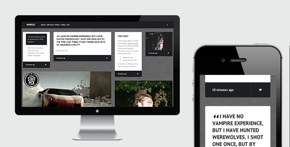Impress - Responsive Tumblr Theme