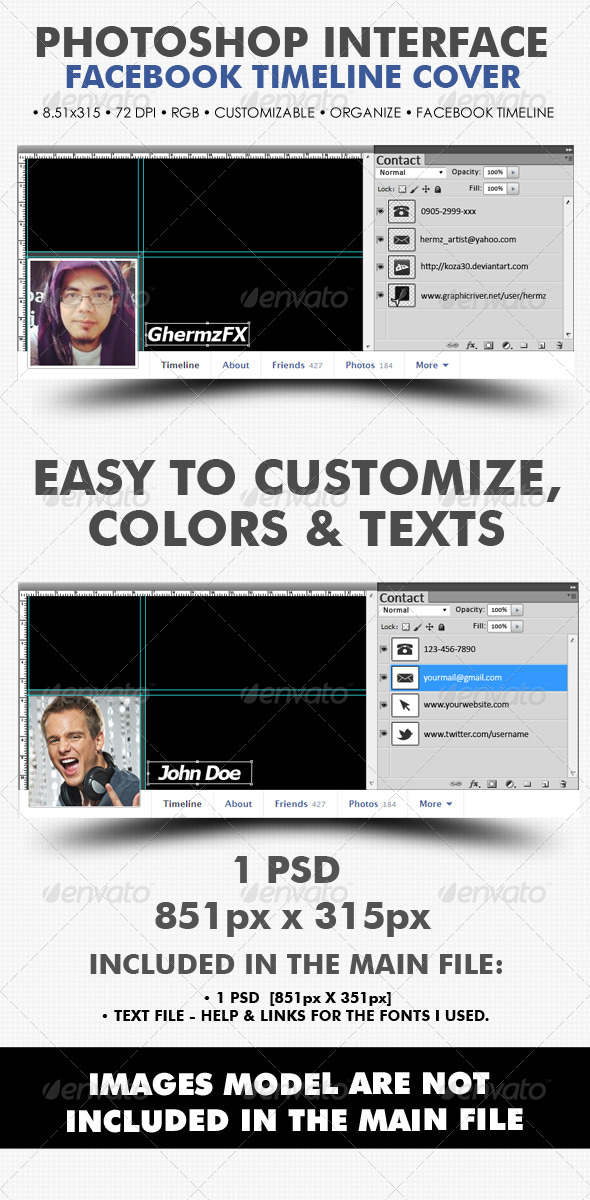 Creative Photoshop Interface Timeline Cover