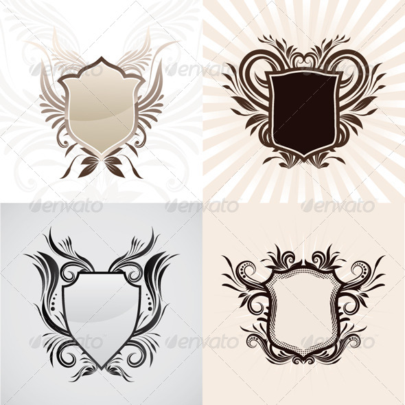 Shield Decorative Ornament Set
