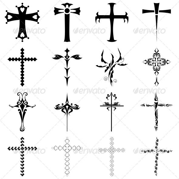 Christian Religious Symbol Cross Vector Pack