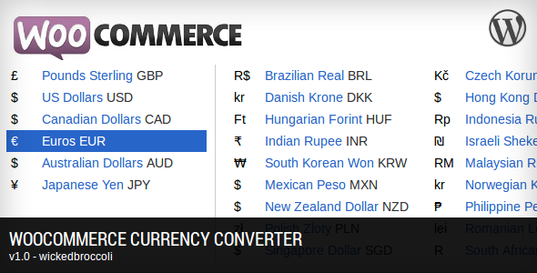 CodeCanyon WooCommerce Currency Converter 4545063