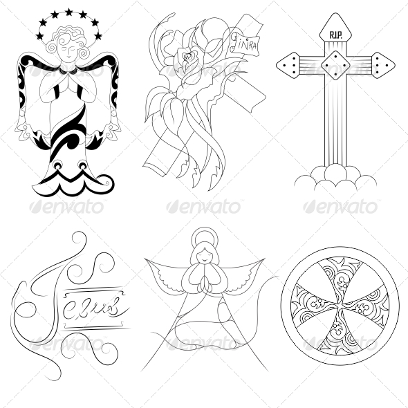 GraphicRiver Jesus Religious Vector Designs Pack 4545134
