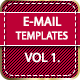 Awesome E-mail Template Design : Vol 1  - GraphicRiver Item for Sale