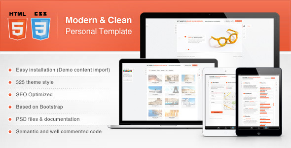 Modern & Clean Personal Template