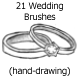 21 Wedding Brushes (hand-drawing) - GraphicRiver Item for Sale