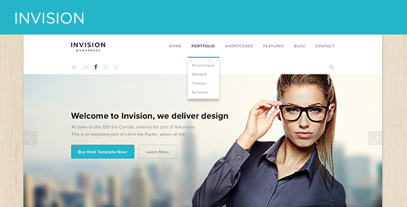 INVISION Corporate PSD Template