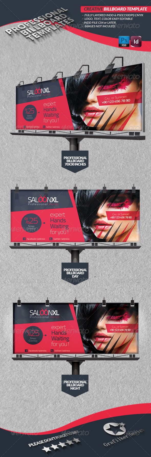 Creative Studio Billboard  - Signage Print Templates