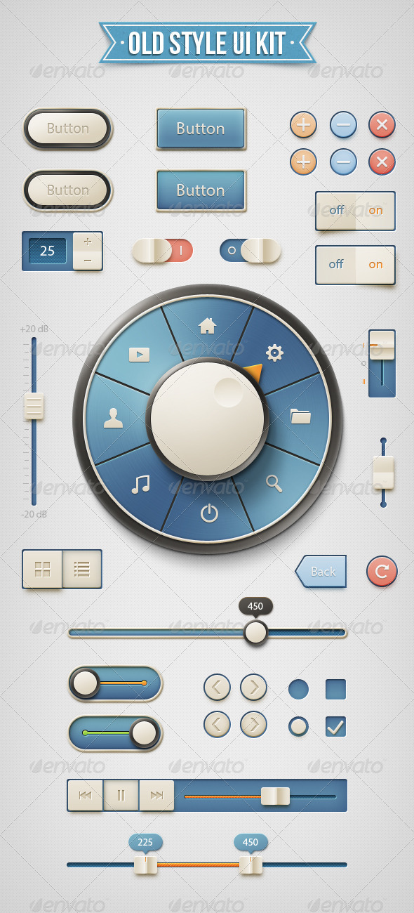 GraphicRiver Old Style UI Kit 4546214