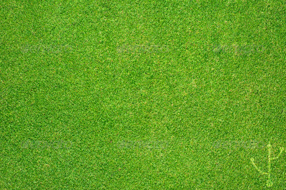 usb icon on green grass texture and background - Stock Photo - Images