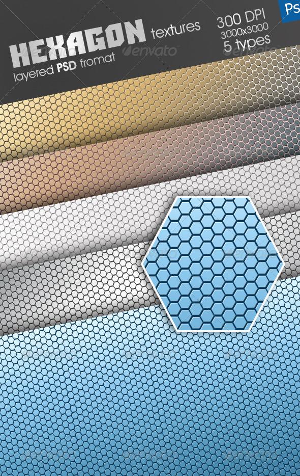 GraphicRiver Hexagon Texture 4546494
