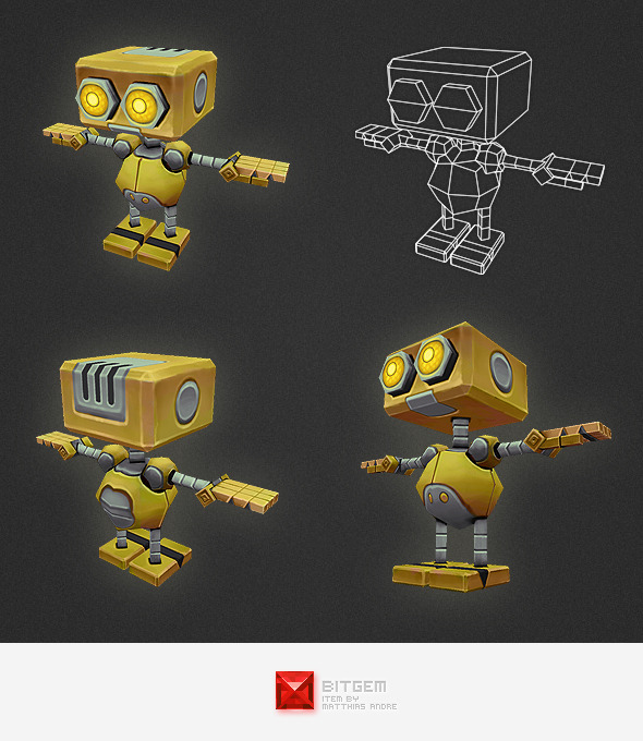3DOcean Low Poly Robot Character AL 4546670