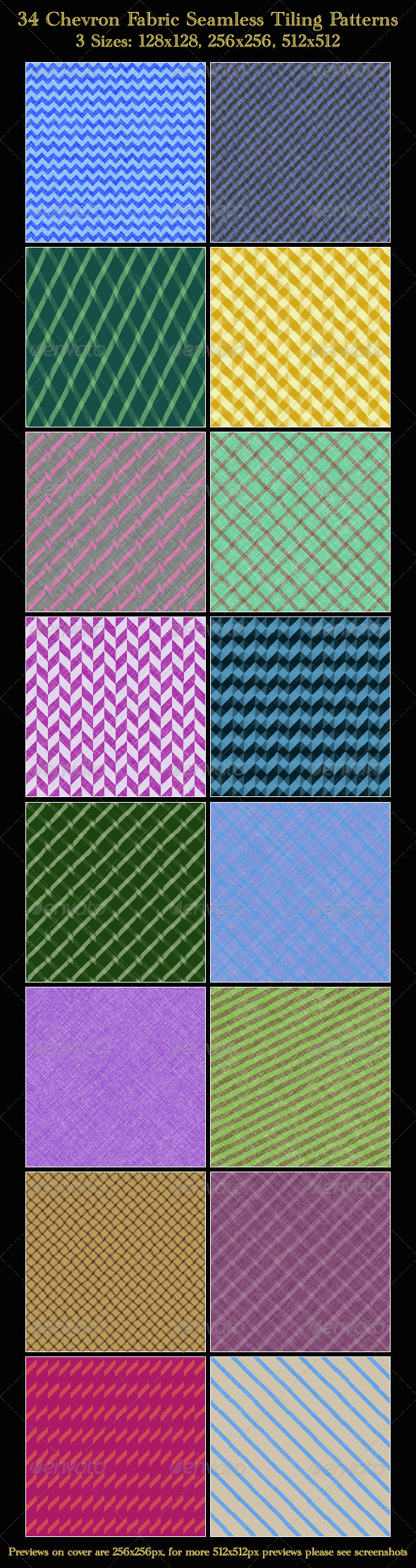 GraphicRiver Chevron Patterns 4546855