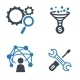 SEO & Internet Marketing Icons - Blue Series