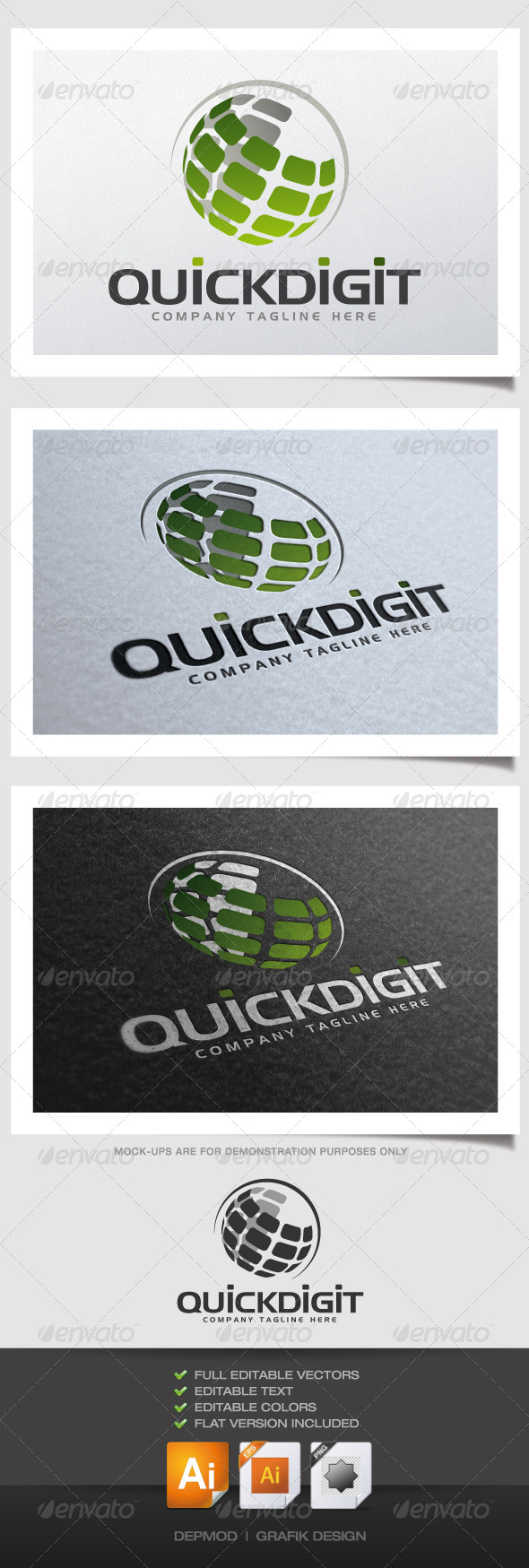 GraphicRiver Quick Digit Logo 4546928