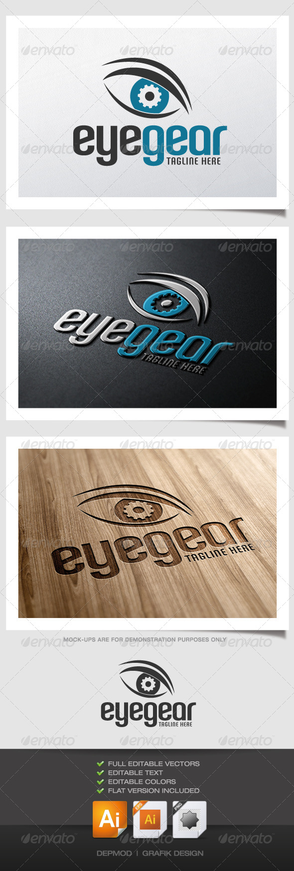GraphicRiver Eye Gear Logo 4546991