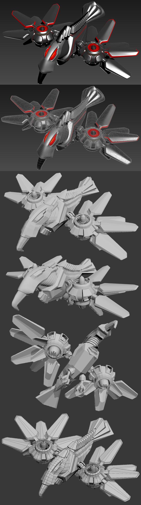 3DOcean Robot Bird 4547149