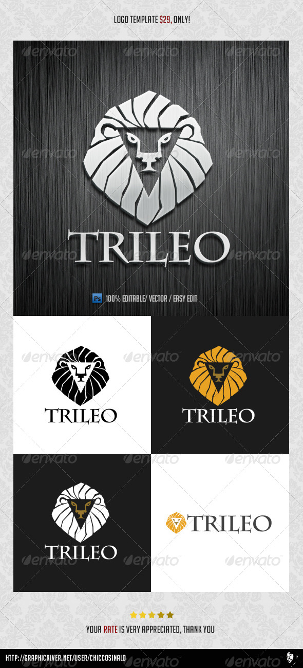 GraphicRiver TriLeo Logo Template 4547159