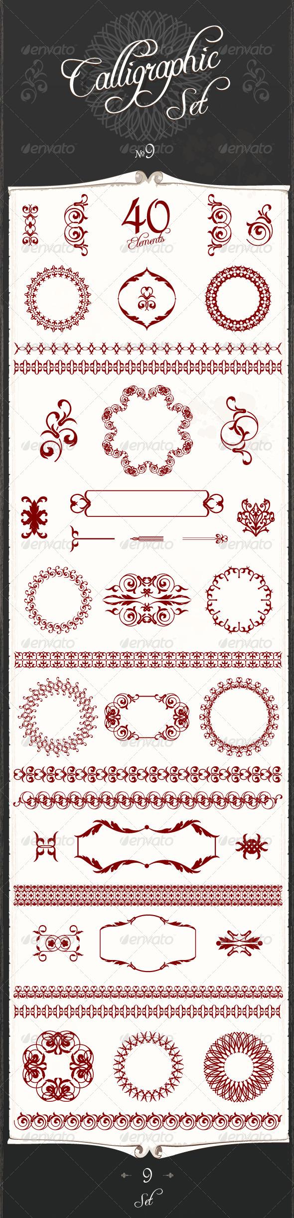 GraphicRiver Art Calligraphic Design Set 9 4547549