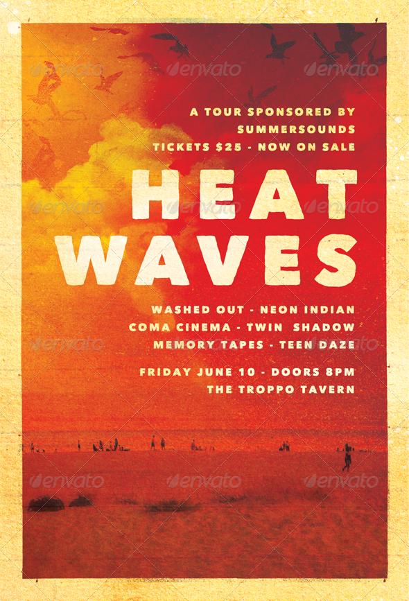 Heat Waves Summer Flyer Template