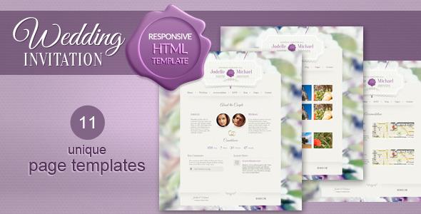 Wedding Invitation - Premium WordPress Theme