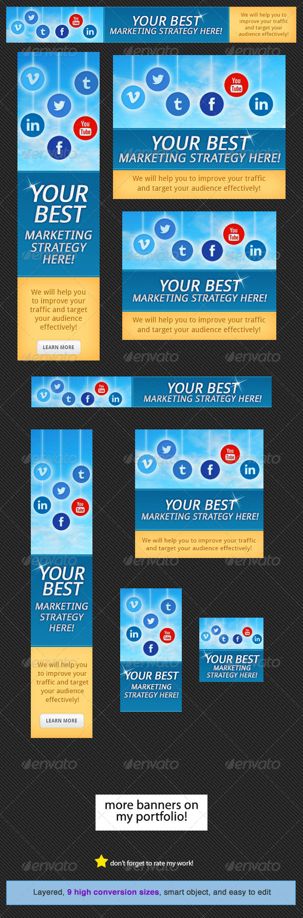 GraphicRiver Social Media Web Banners 2.0 4548031