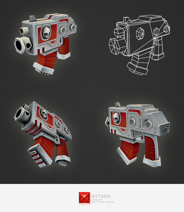 3DOcean Low Poly Gun 01 4548101