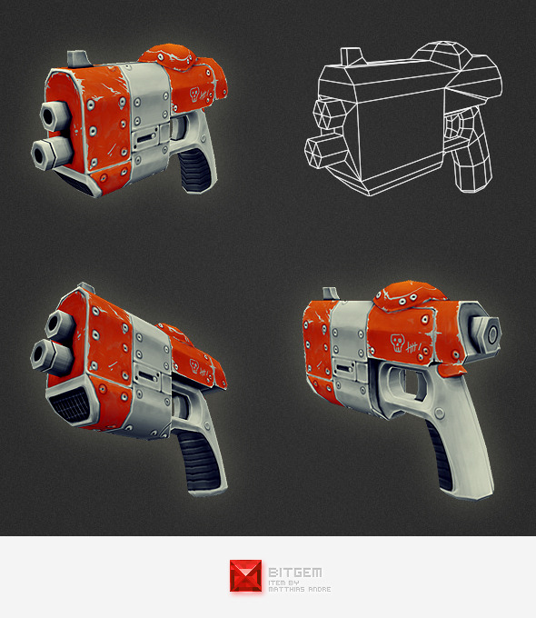 3DOcean Low Poly Gun 02 4548107