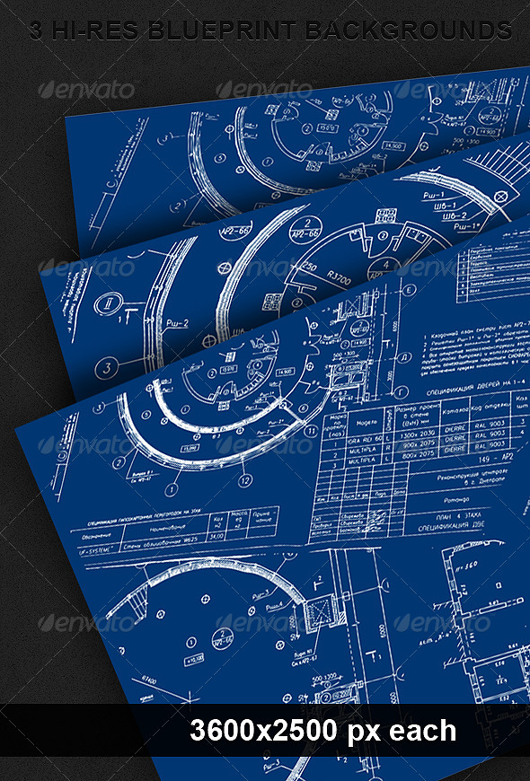 3 Blueprint Backgrounds