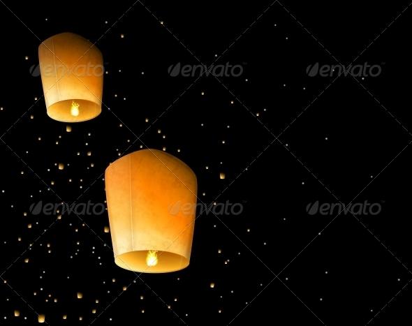 GraphicRiver Sky Lanterns 4548377