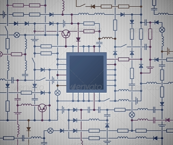 GraphicRiver Circuit Diagram 4548427
