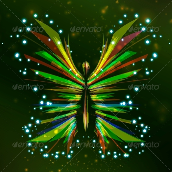 GraphicRiver Shiny Butterfly Abstract 4548480