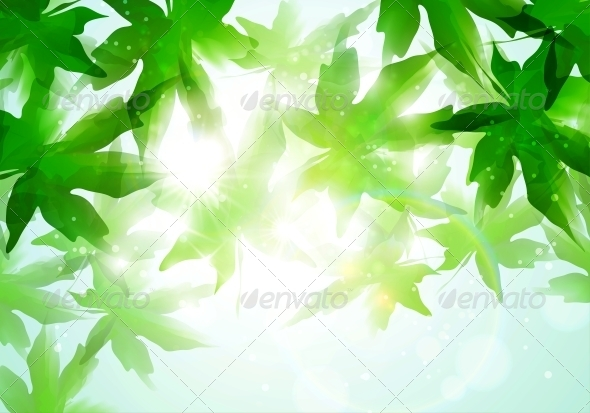 GraphicRiver Leaves Background 4548571