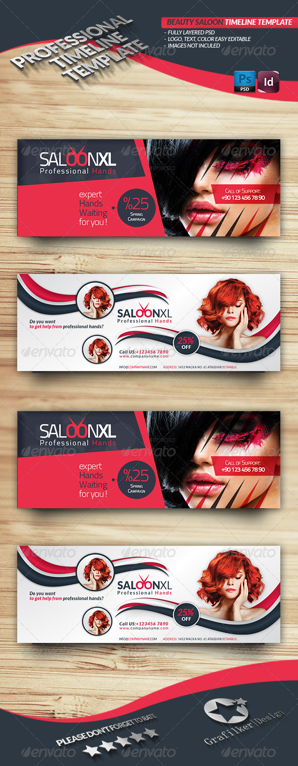 GraphicRiver Beauty Saloon Timeline Template 4548699