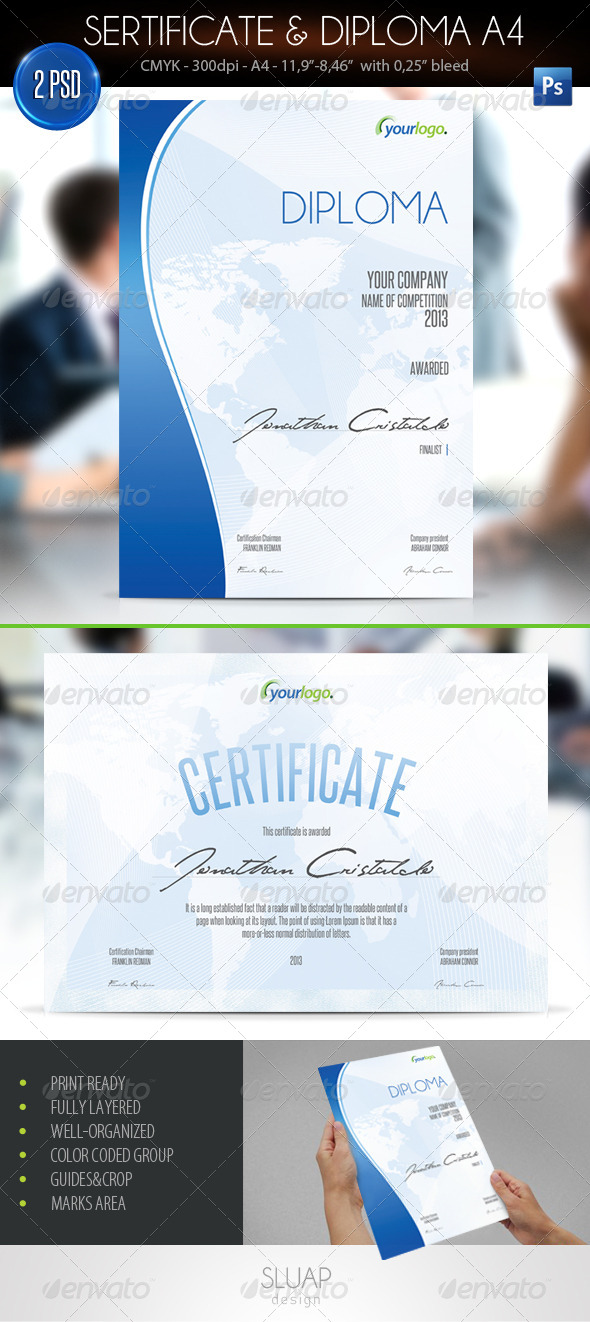GraphicRiver Sertificate & Diploma A4 4548725