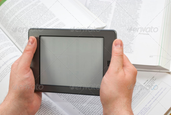 E-Book Reader  - Stock Photo - Images
