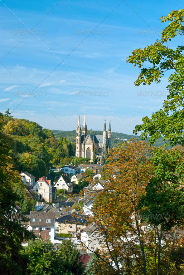 Apollinaris Church in Remagen - Stock Photo - Images