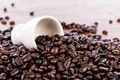 Coffee beans closeup background - PhotoDune Item for Sale