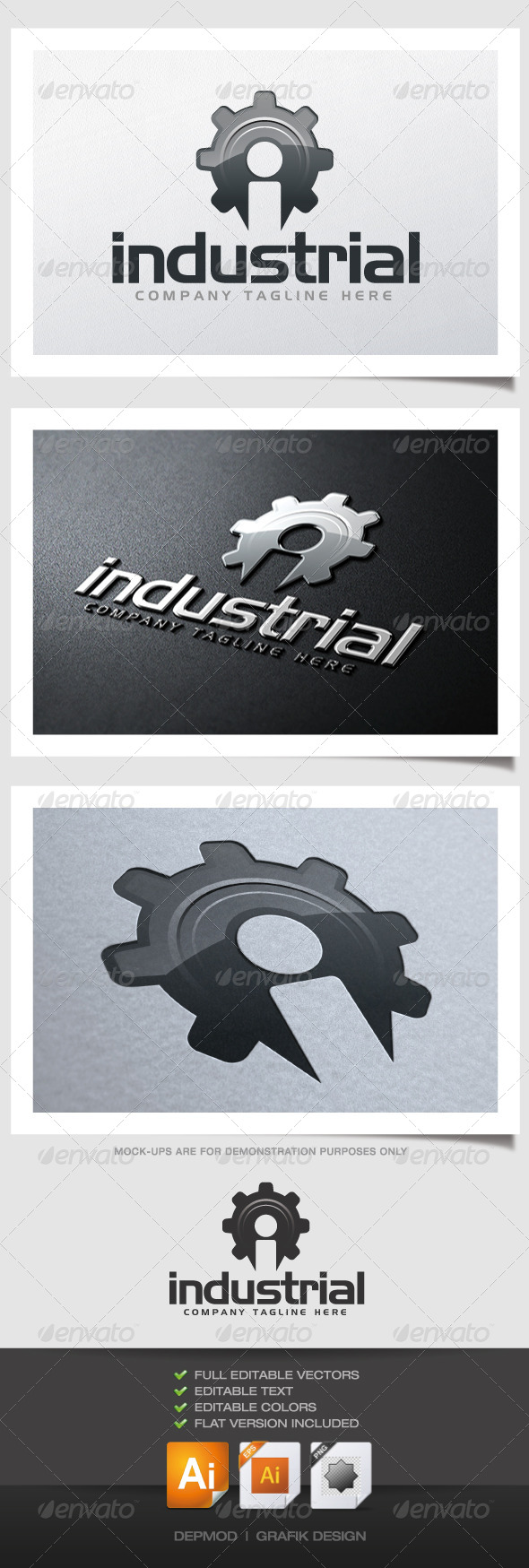GraphicRiver Industrial Logo 4549383
