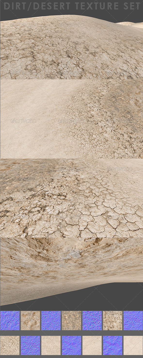 Desert Dirt Texture Set - 3DOcean Item for Sale