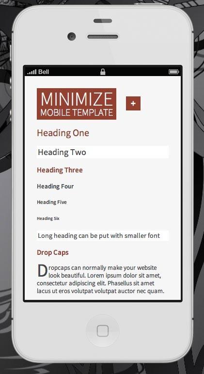 Minimize   Tablet & Mobile Responsive Template