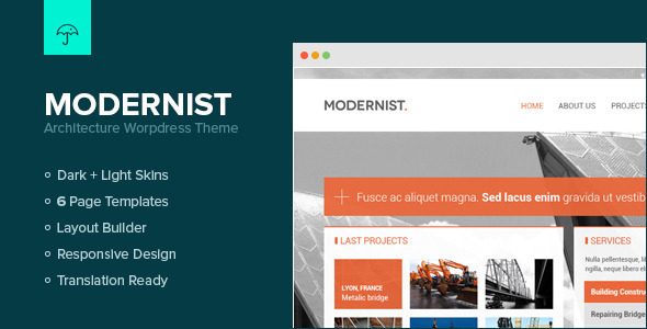 Modernist - Architecture&Engineer Wordpress Theme - Creative WordPress