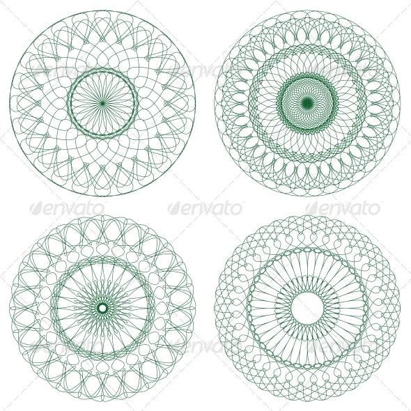 GraphicRiver Set of Vector Guilloche Rosettes 4550677