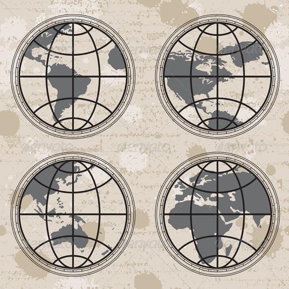 GraphicRiver Retro Globes 4550702