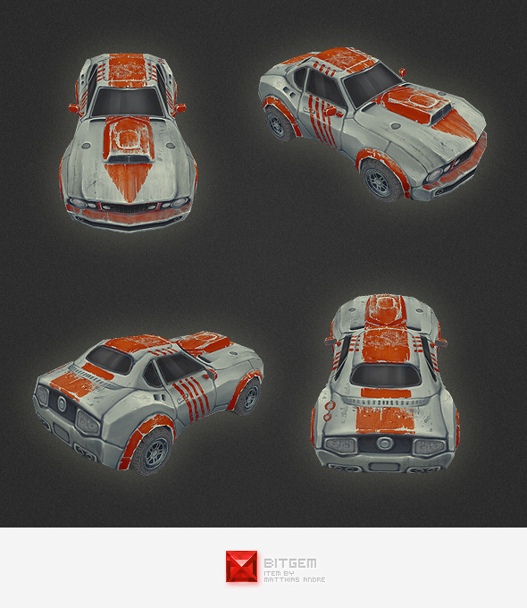 Low Poly Car 01 - 3DOcean Item for Sale