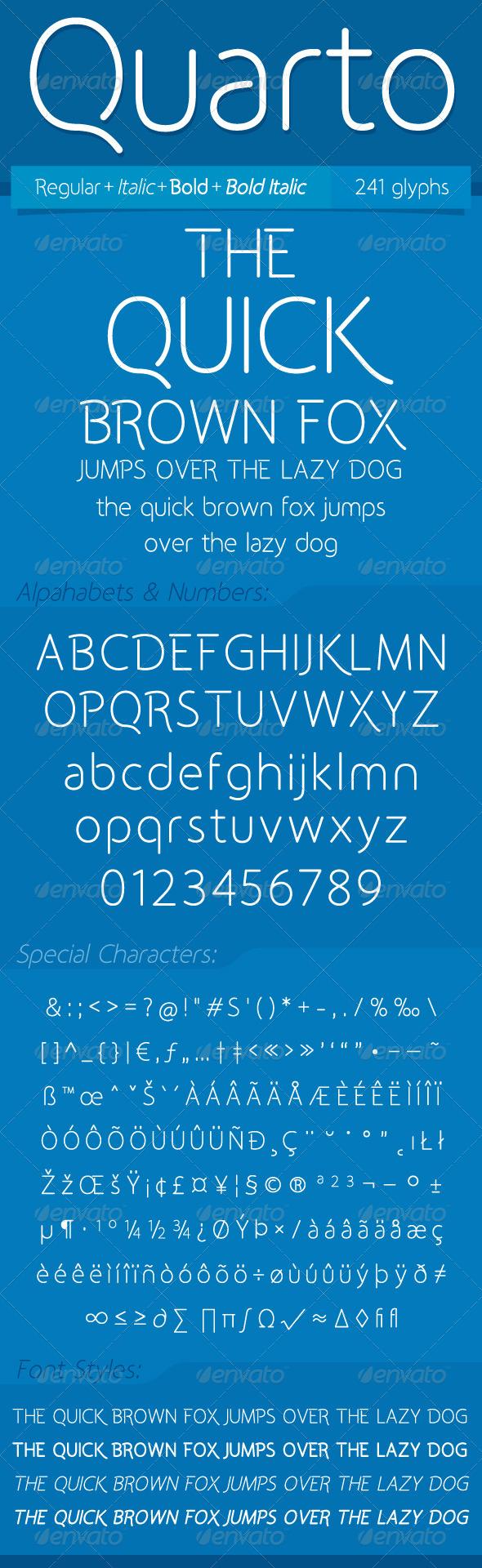 GraphicRiver Quarto Font 4551234