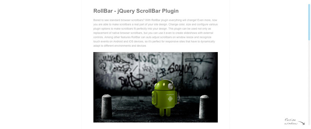 RollBar - jQuery ScrollBar Plugin - Screenshot 1