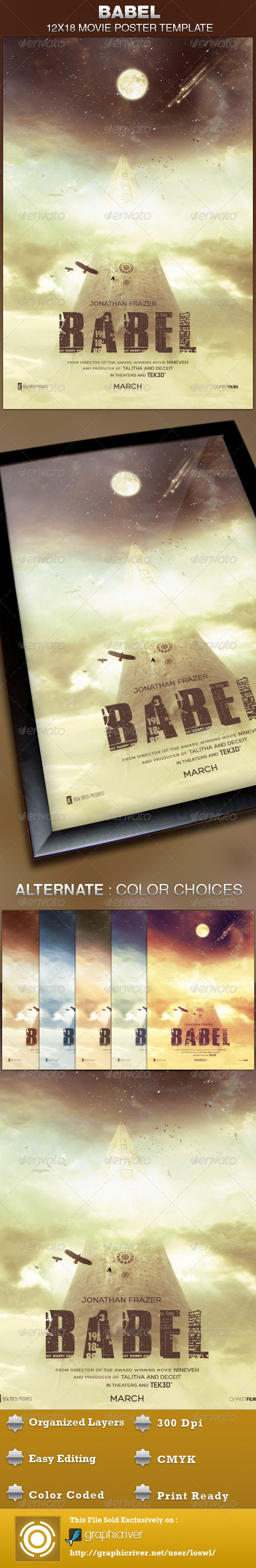 Babel Movie Poster Template - Church Flyers