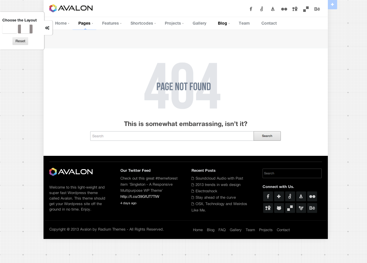 Avalon - a Responsive and Modern Wordpress Theme